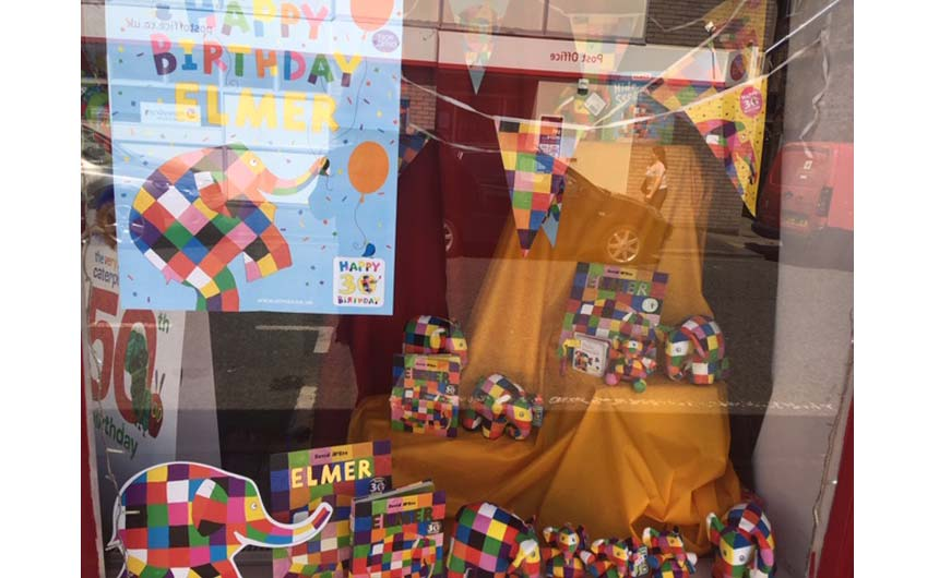 The Elmer display was won by Giddy Goat Toys in Manchester.