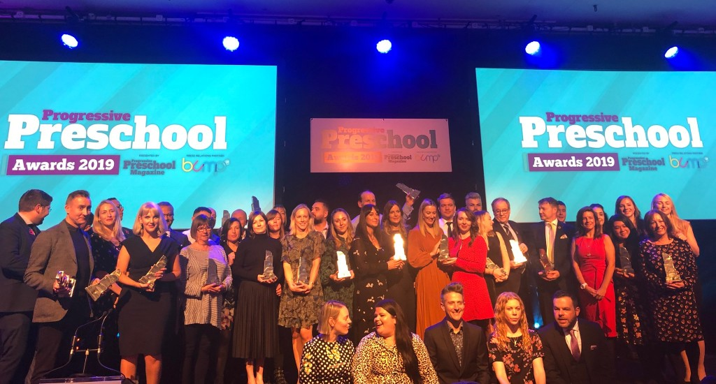 Above: The winners of the Progressive Preschool Awards 2019