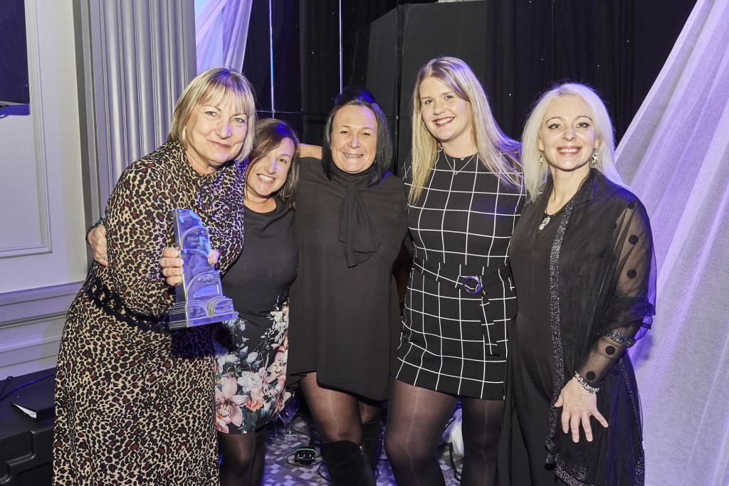 Above: Sam and the team at the Progressive Preschool Awards 2019, where they won Best Independent Nursery Retailer.
