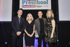 The Entertainer's Katie Gritt and Phil Geary pick-up one of three big wins at the PPS Awards 2019, accompanied by category sponsor Faye Rashad of Misirli.