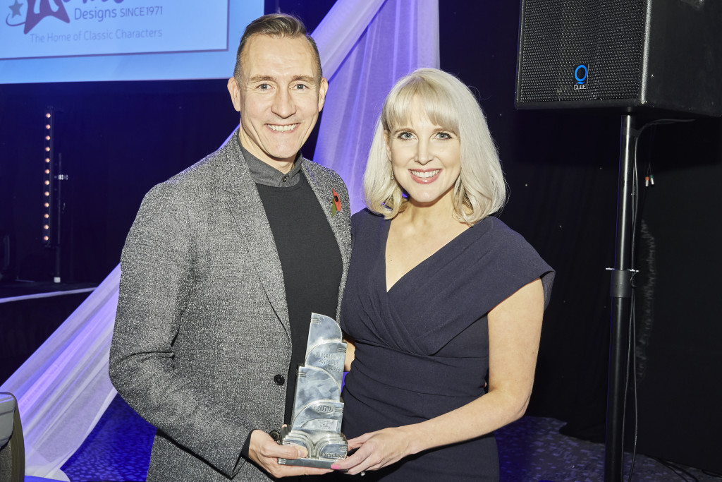 Katie Gritt and colleague Phil Geary are happy recipients of a prestigious PPS Award recognising marketing excellence.